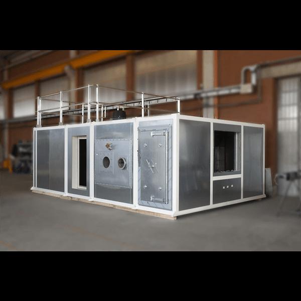 Camera di riscaldo con filtri a bordo