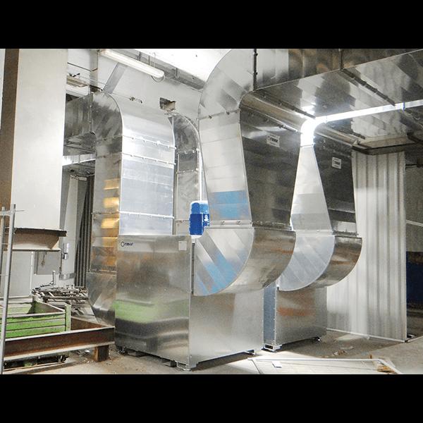 Impianto raffreddamento teste e fusioni