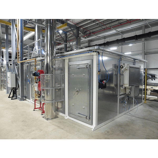 Macchine essiccazione e riscaldo aria calda linea Recube per linee di verniciatura automotive