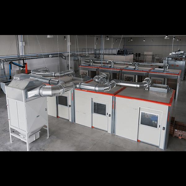 Sistemi di impianti per aspirazione polveri